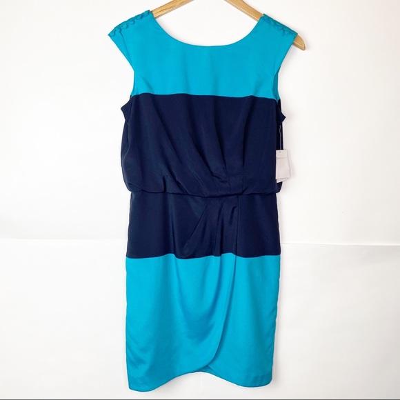 NWT Jessica Simpson Blouson Faux Wrap Dress